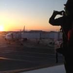 飛行機夕景